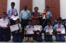 "23-10-17 Badges given as ""NEAT PENMANSHIP"" and Sports achievers are appreciated with their ""Certificates and Trophy"""