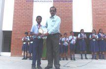 19-2-18 Monday activity- Indira Gandhi & Our student P.Akash won the trophy-LEVO SPORTS STATE LEVEL NON RANKING TENNIS TOURNAMENT